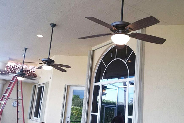 Exterior Residential Ceiling Fans and Lighting