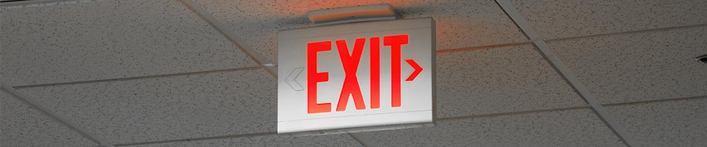 Emergency Exit Sign Installed in Office