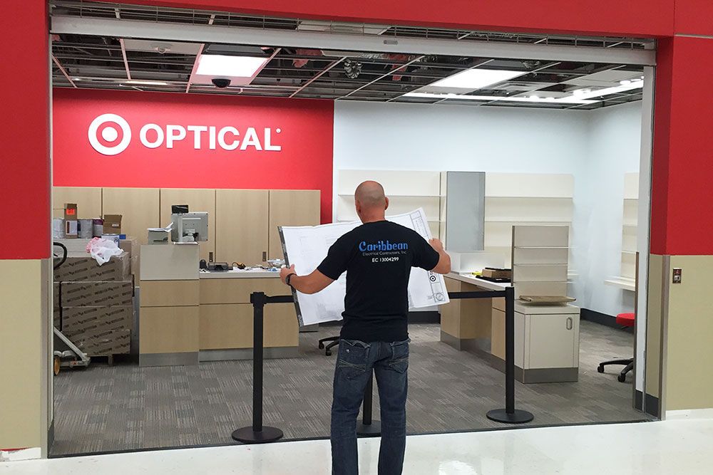 Electrical Project at Target Optical